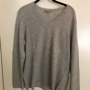 Charter Club Real Cashmere Grey Sweater
